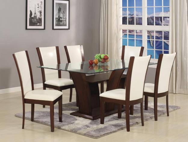 Camelia Rectangular Dining Set White Dining Room Sets