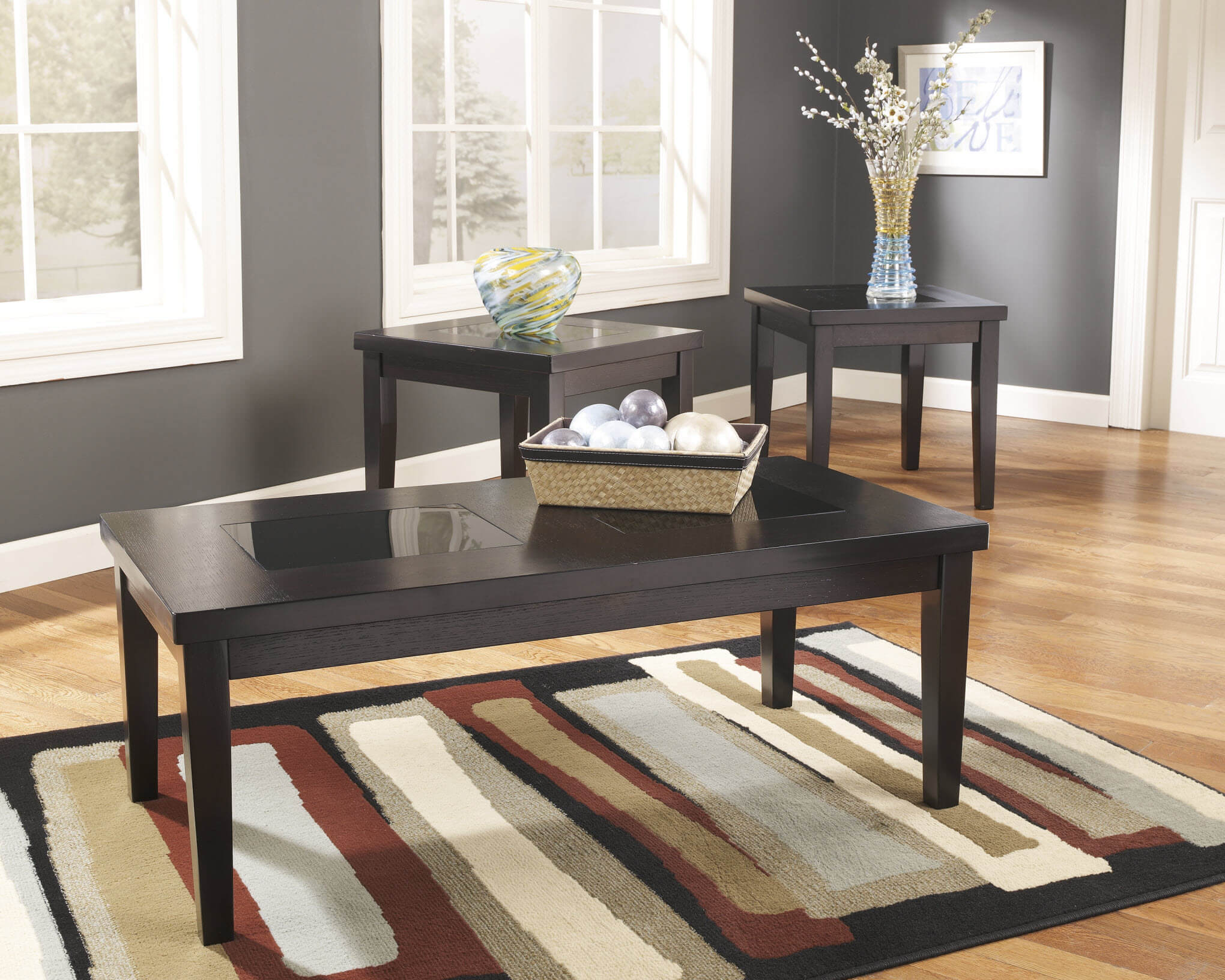 denja birch coffee and end table set | occasional tables