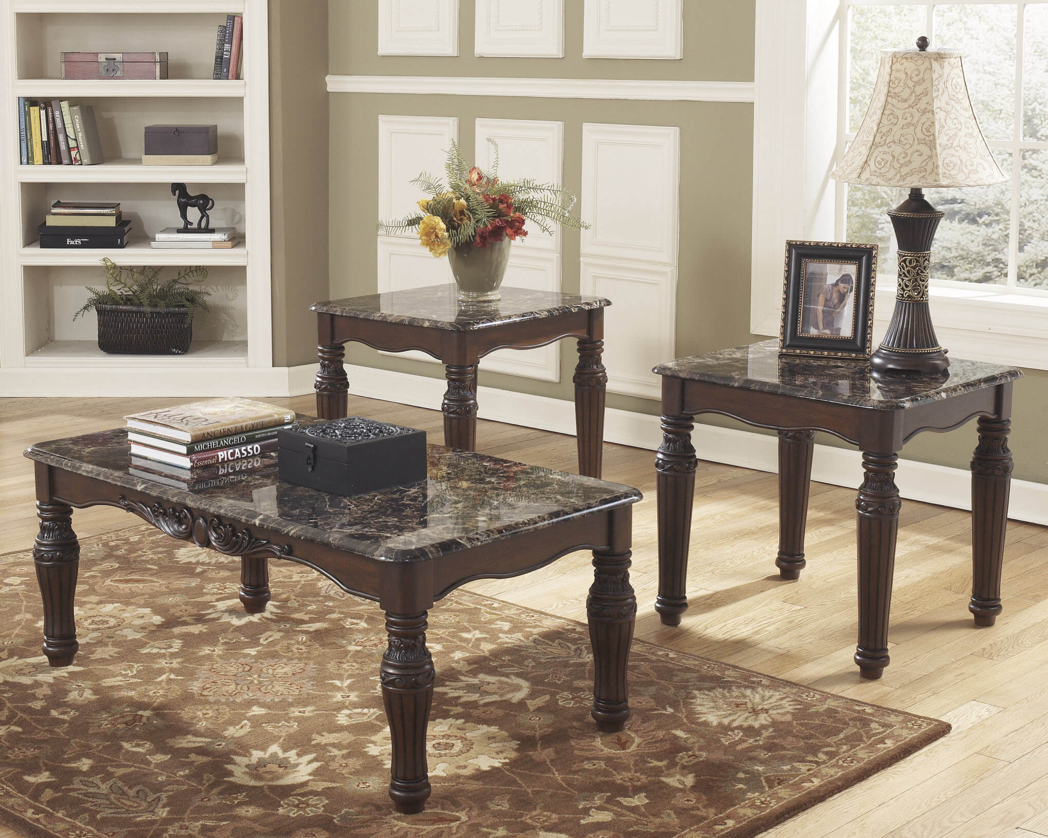 North Shore Coffee And End Table Set By Ashley