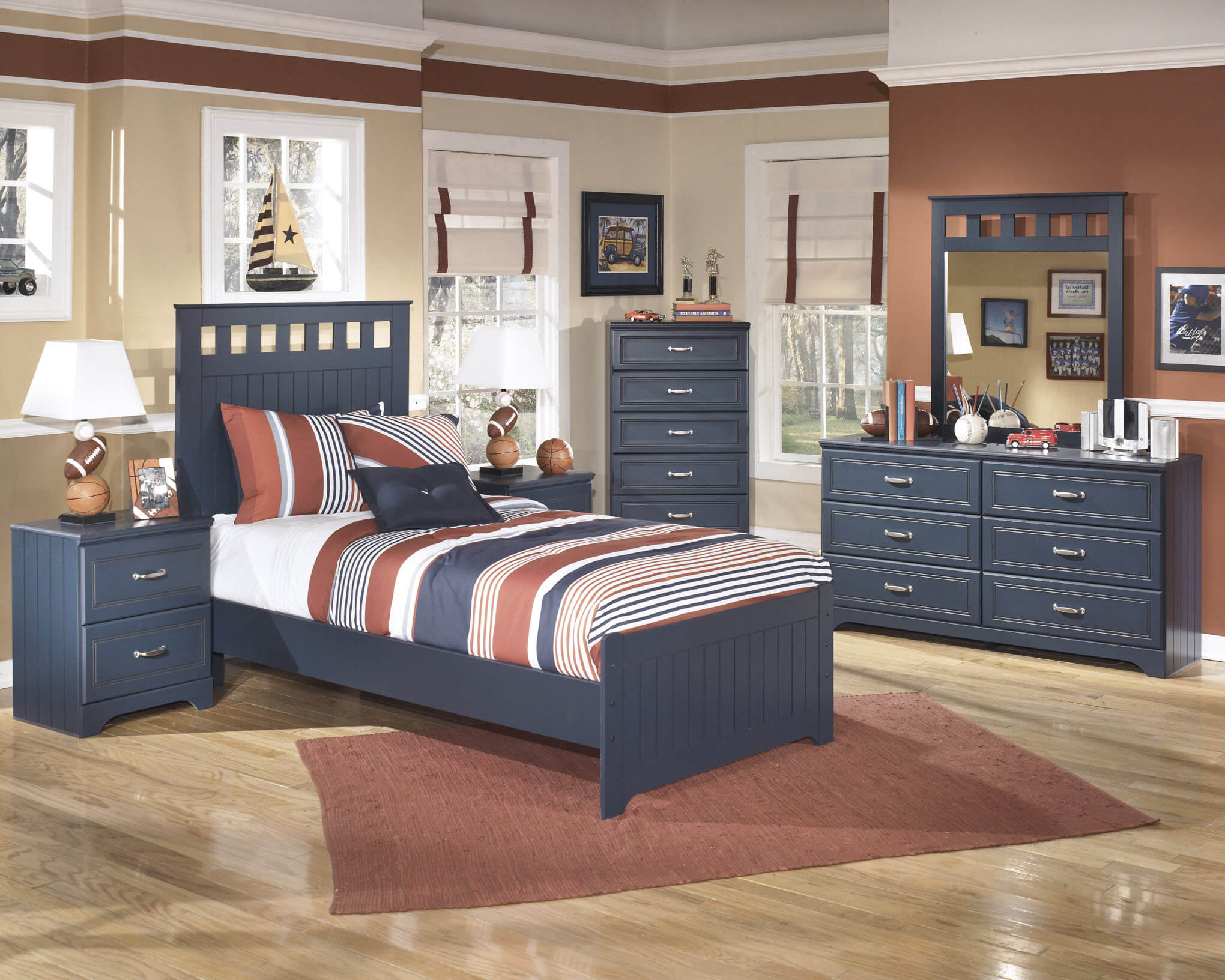 B103 Ashley 'Leo' Blue Bedroom Set-DISCONTINUED