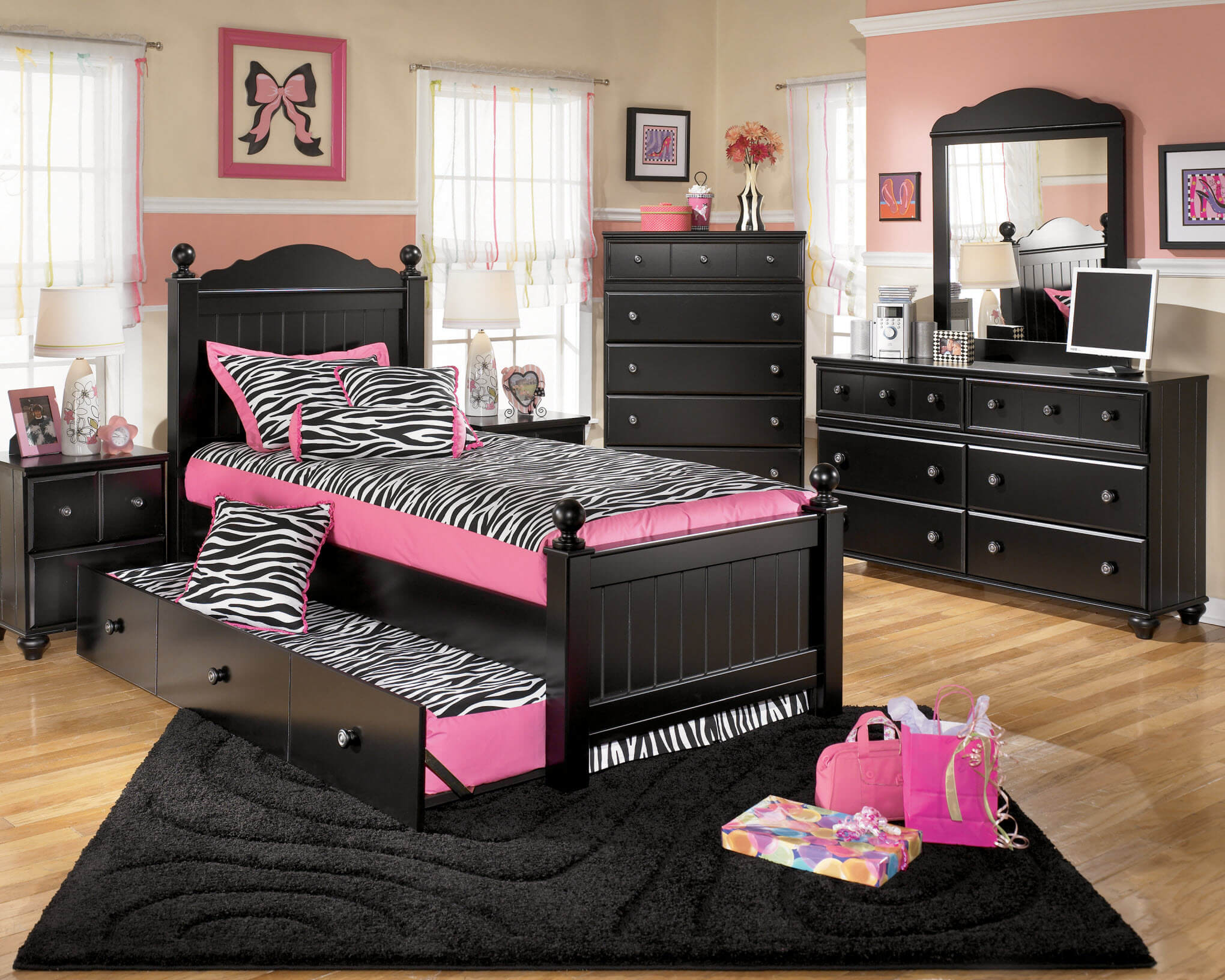 B150 Ashley Jaidyn Black Bedroom Set-DISCONTINUED