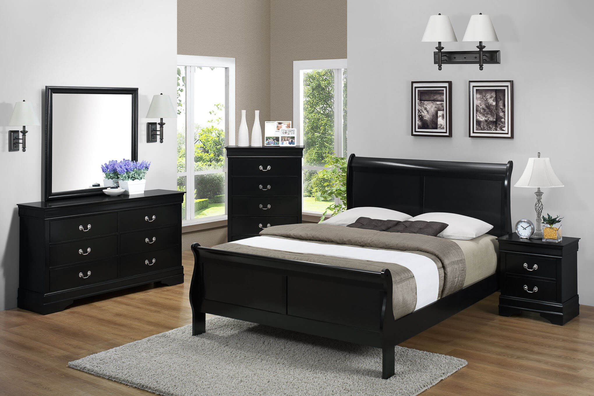 Black Louis Philip Bedroom Set Kids Bedroom Sets