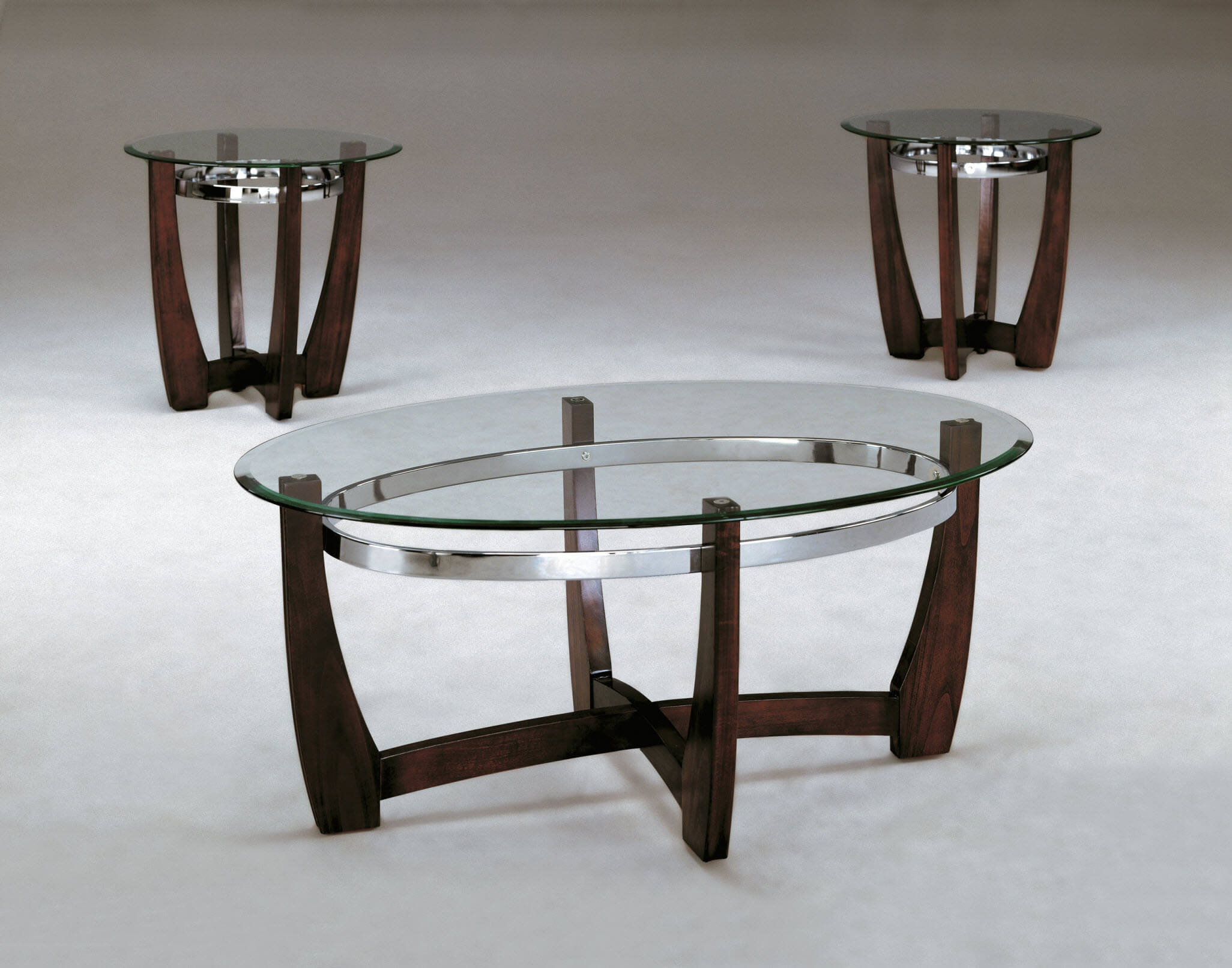 Mitchell Coffee And End Table Set Occasional Tables - 3 piece oval coffee table set