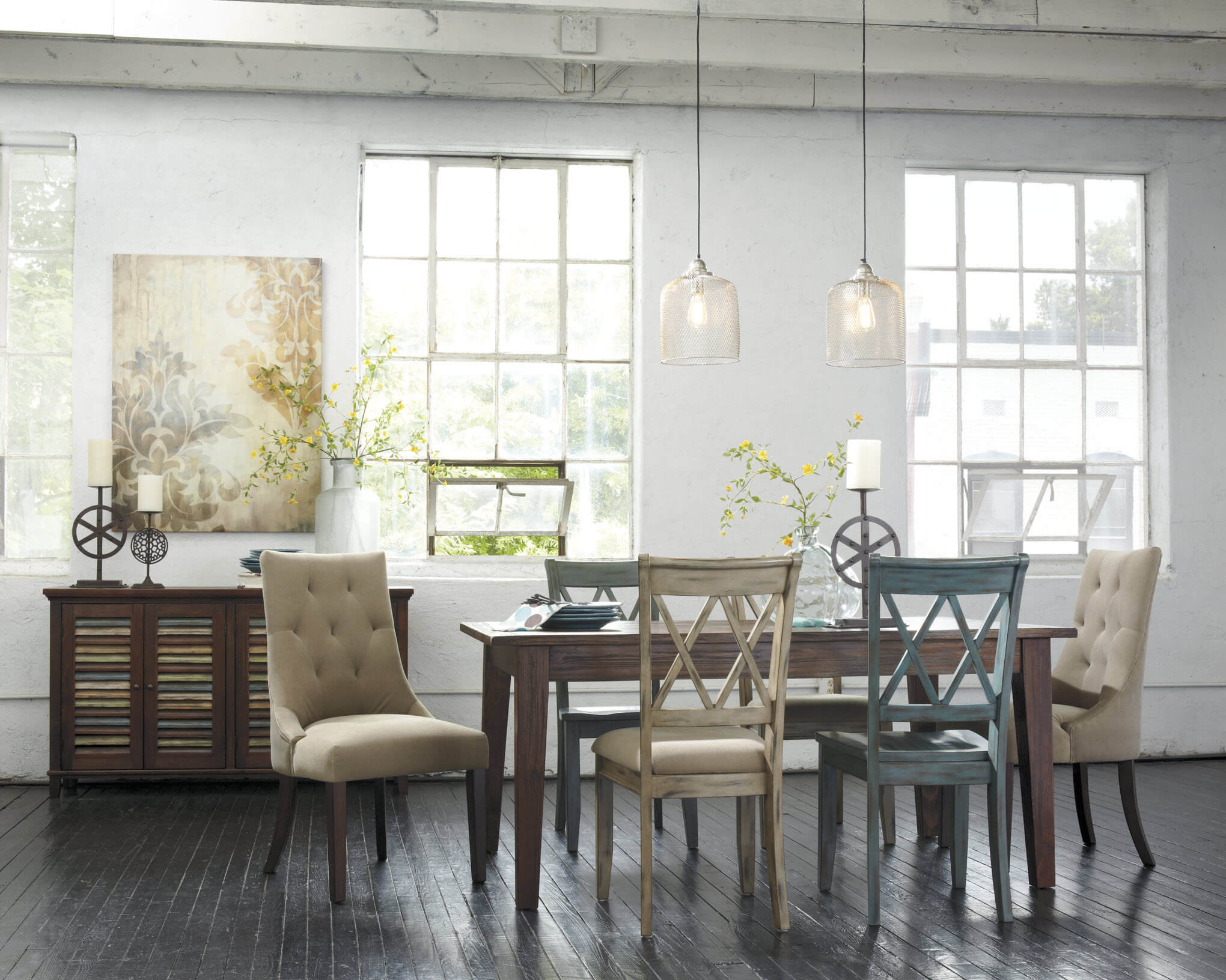 Ashley Mestler 7 Pc Dining Room | Casual Dining Furniture