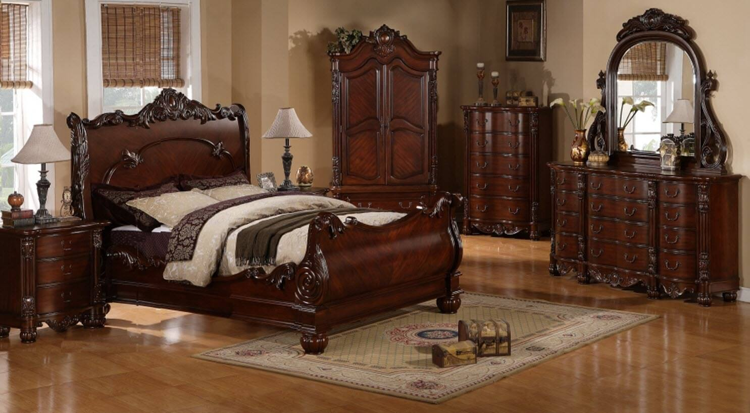 Regal Cherry 5 Piece Bedroom Set | Bedroom Furniture Sets