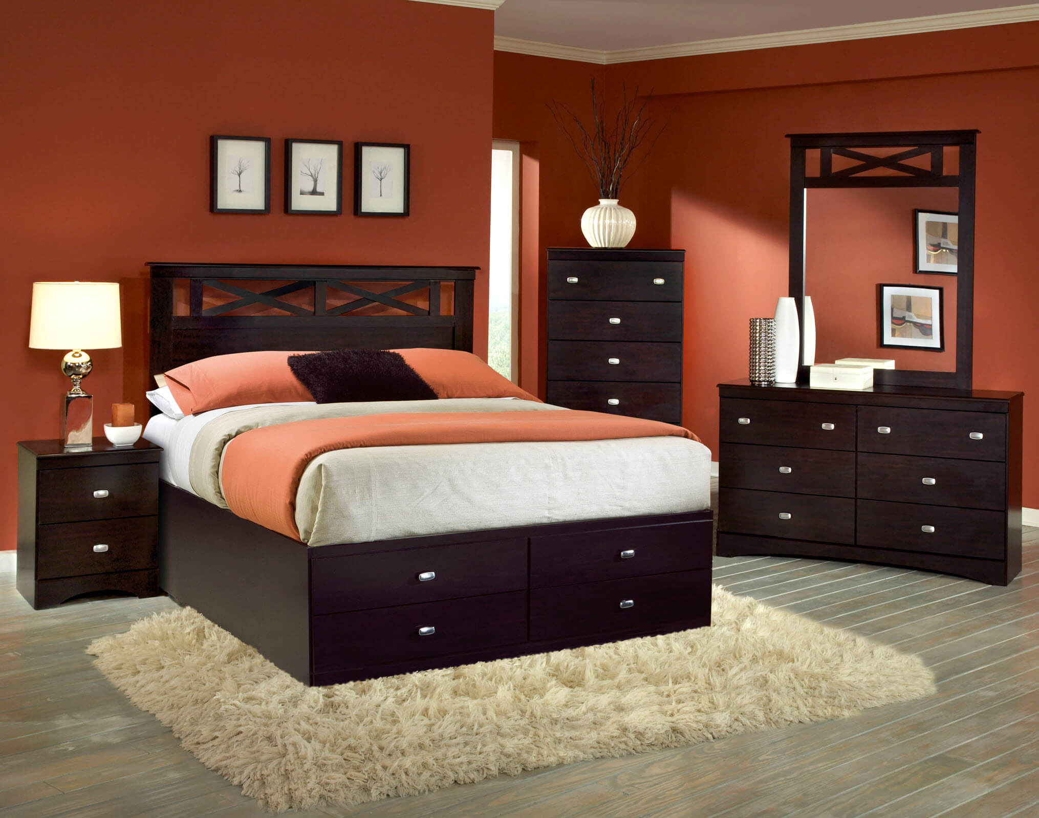 Tyler 5 Pc Set With Queen Storage Bed Bedroom Sets