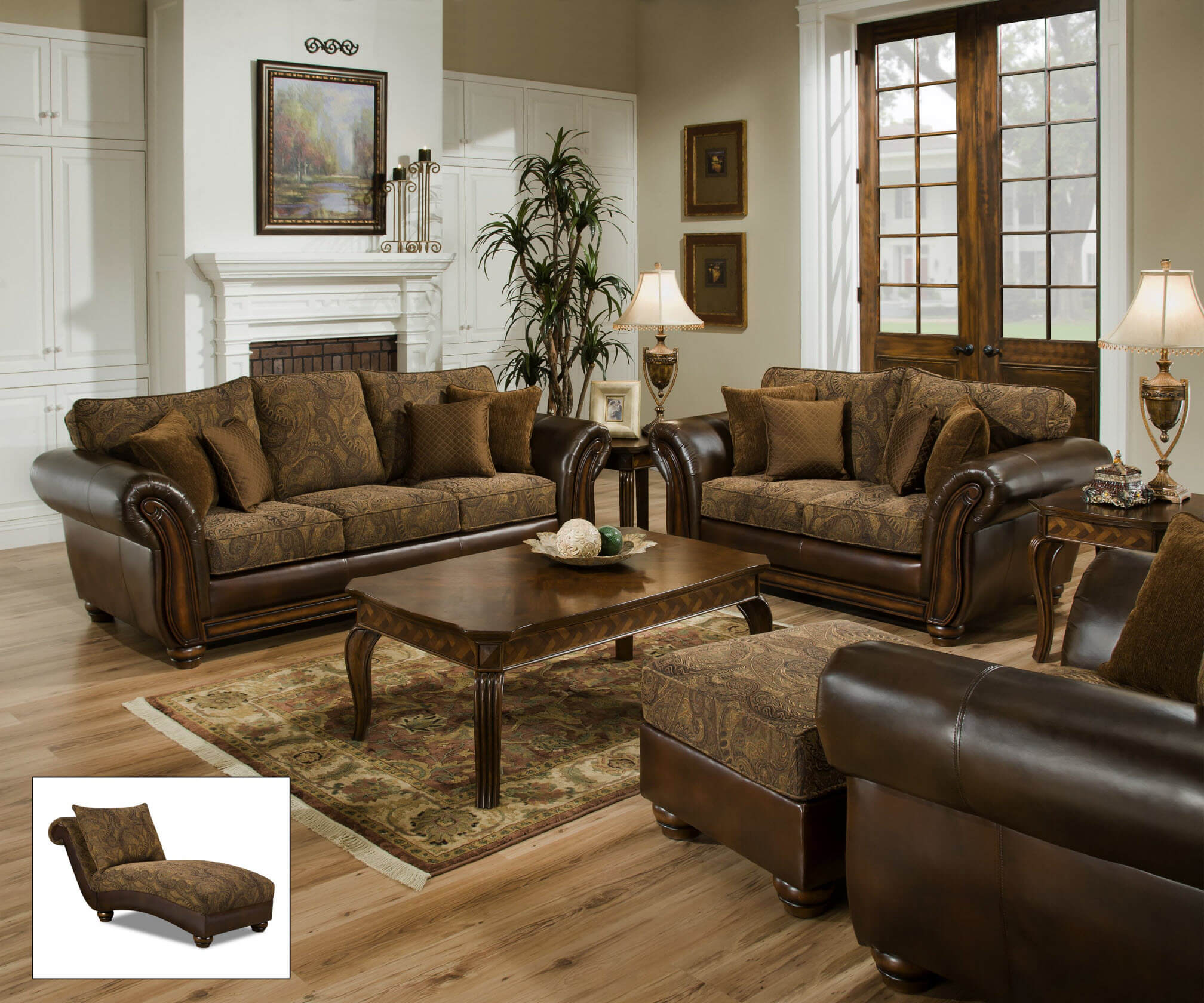 8104 Simmons Zephyr Vintage Tobacco Sofa and seat-DISCONTINUED on