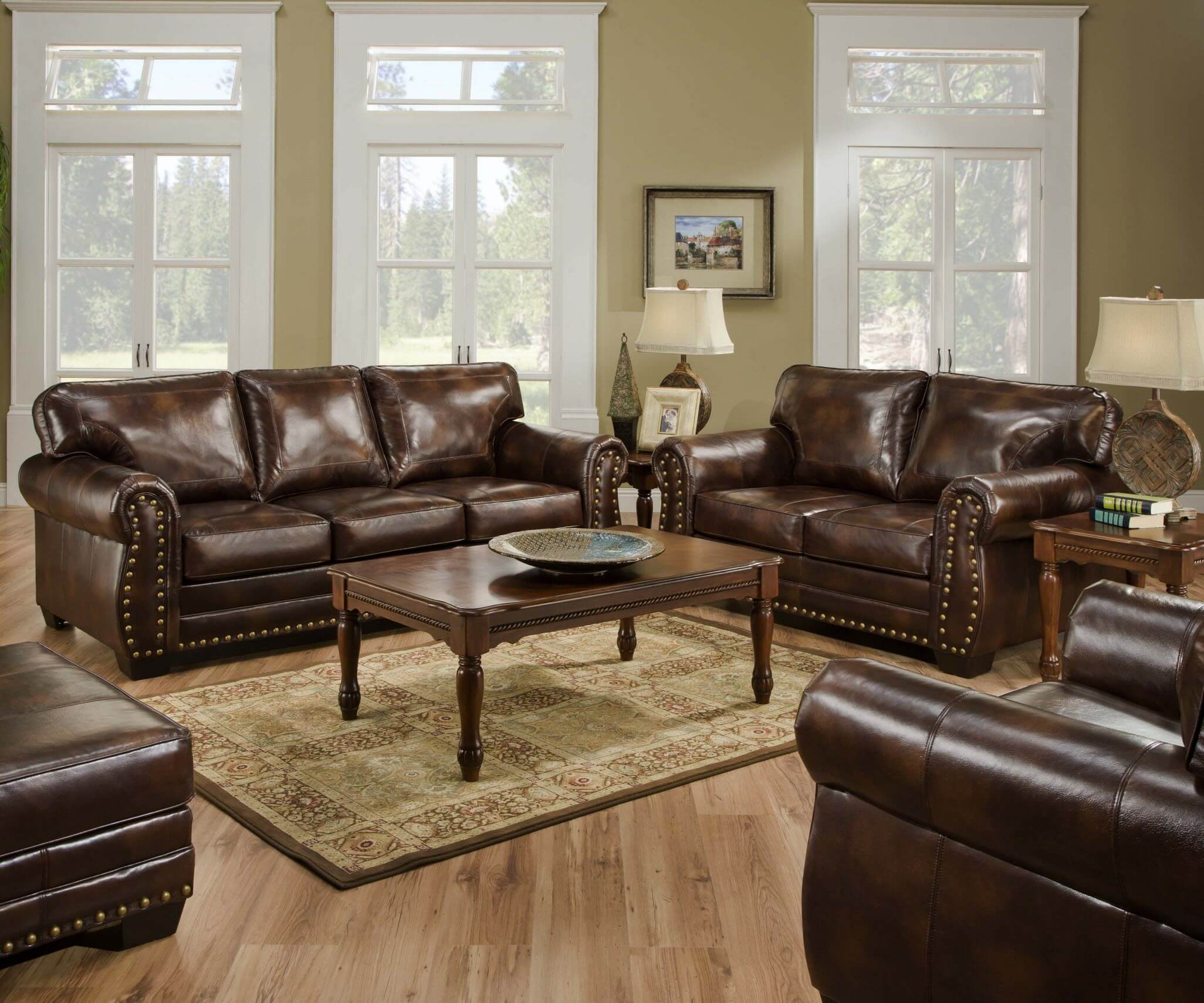 Living Room Furniture Made In The Usa Sofa Loveseat And Chair Set All Leather Tufted Seat Sofa Loveseat