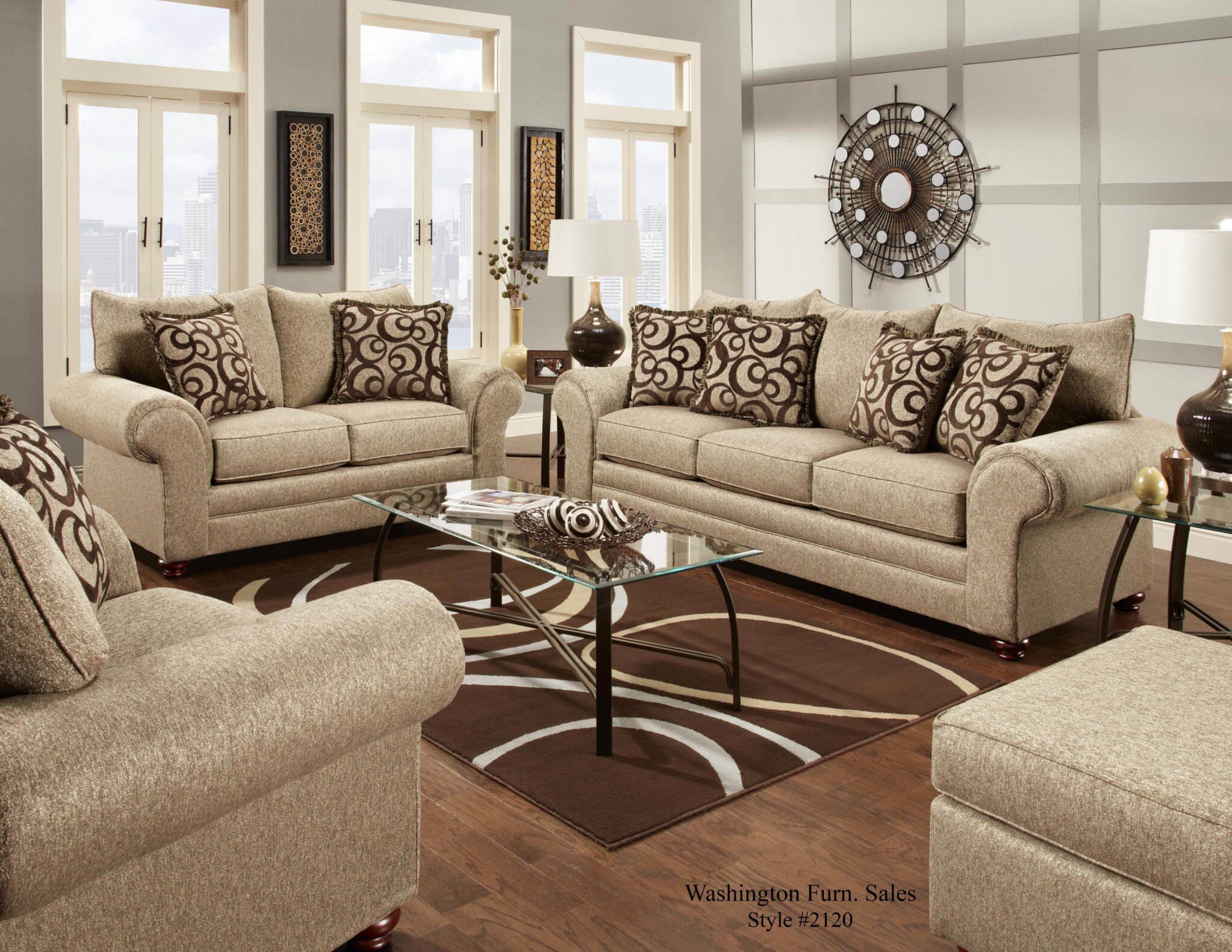 mix cafe sofa and loveseat fabric living room sets