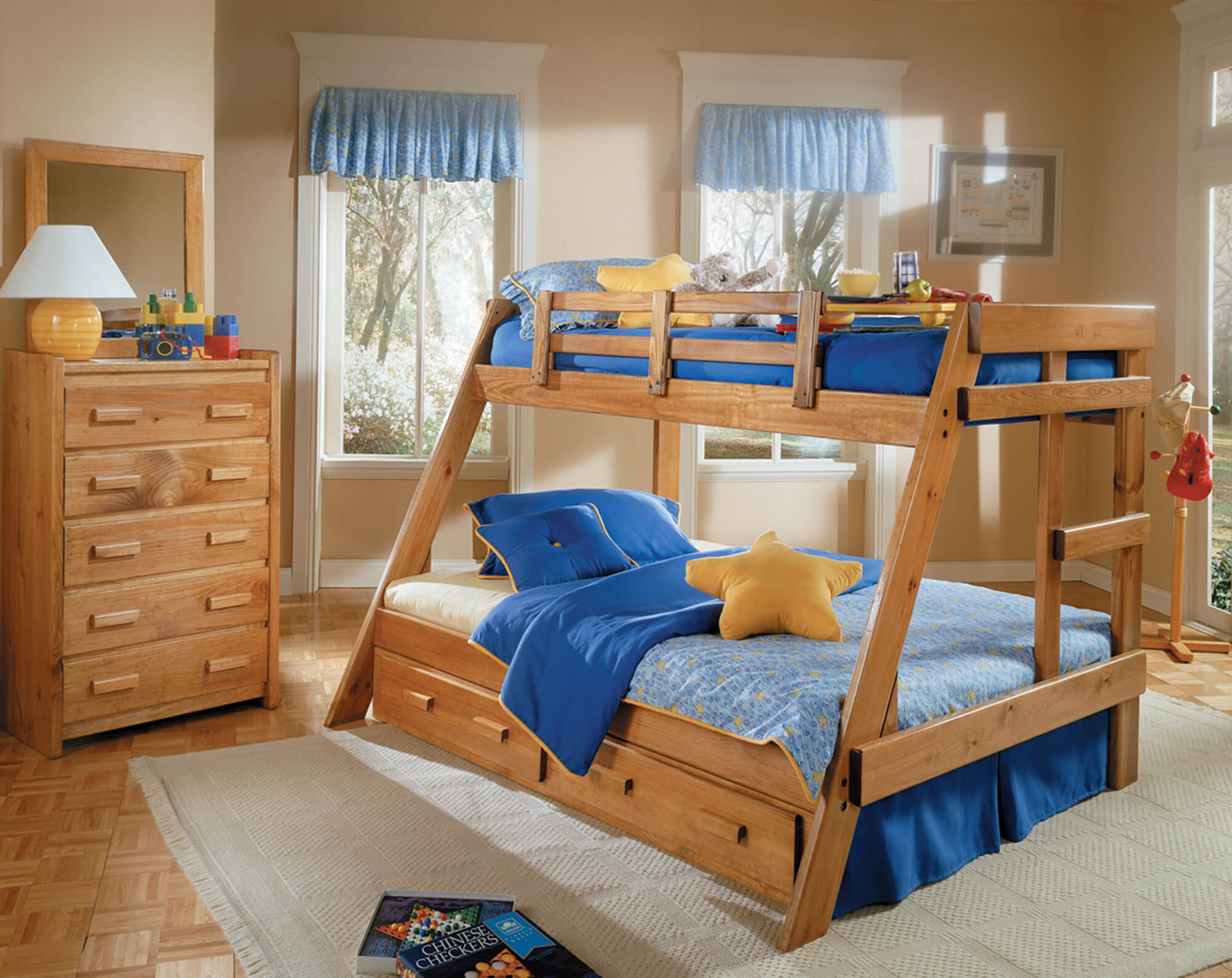 Twin Full Solid Pine Bunk Bed Kids Bunk Beds