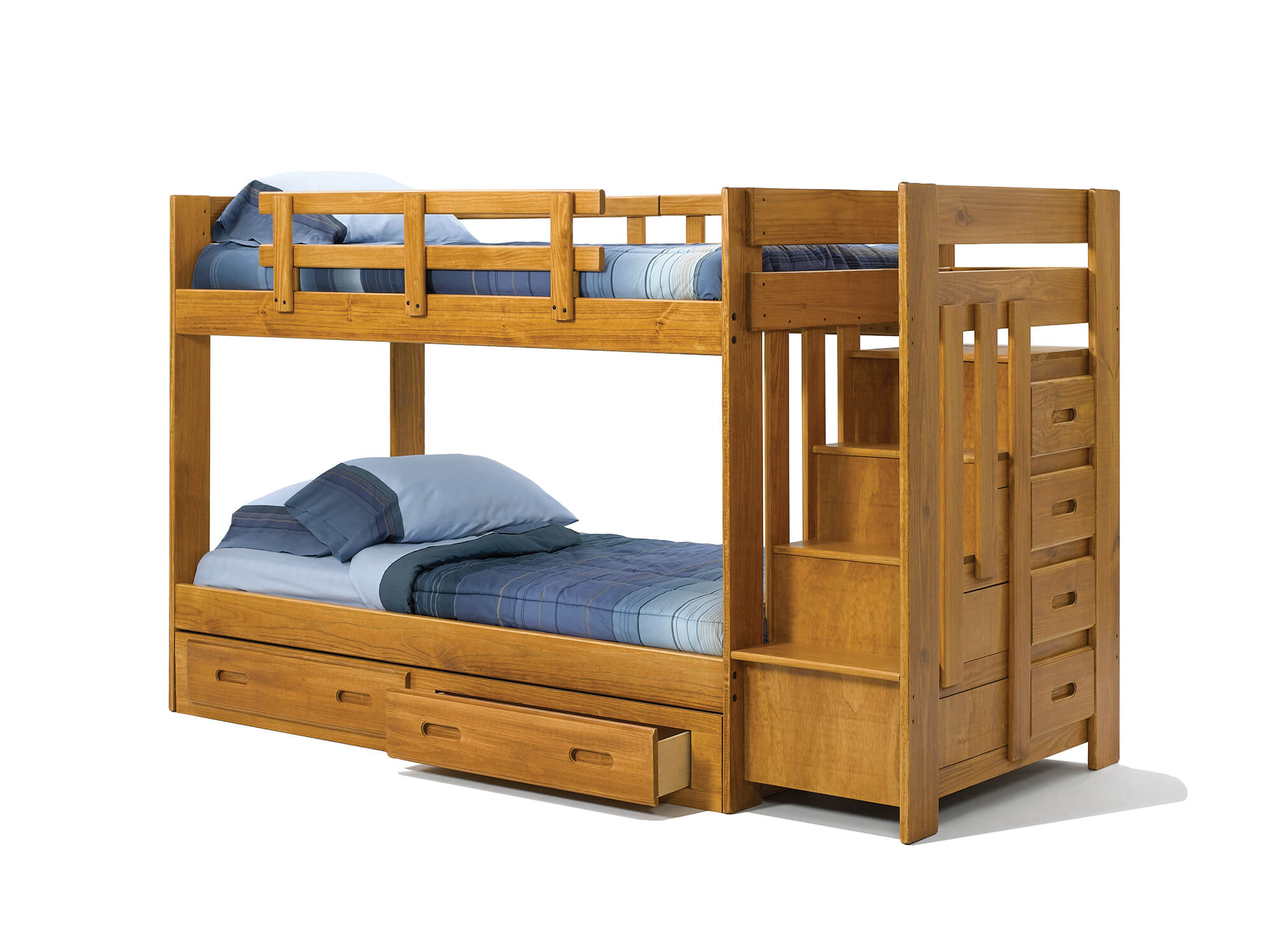 Woodcrest Stair Step Bunk Bed Kids Bunk Beds