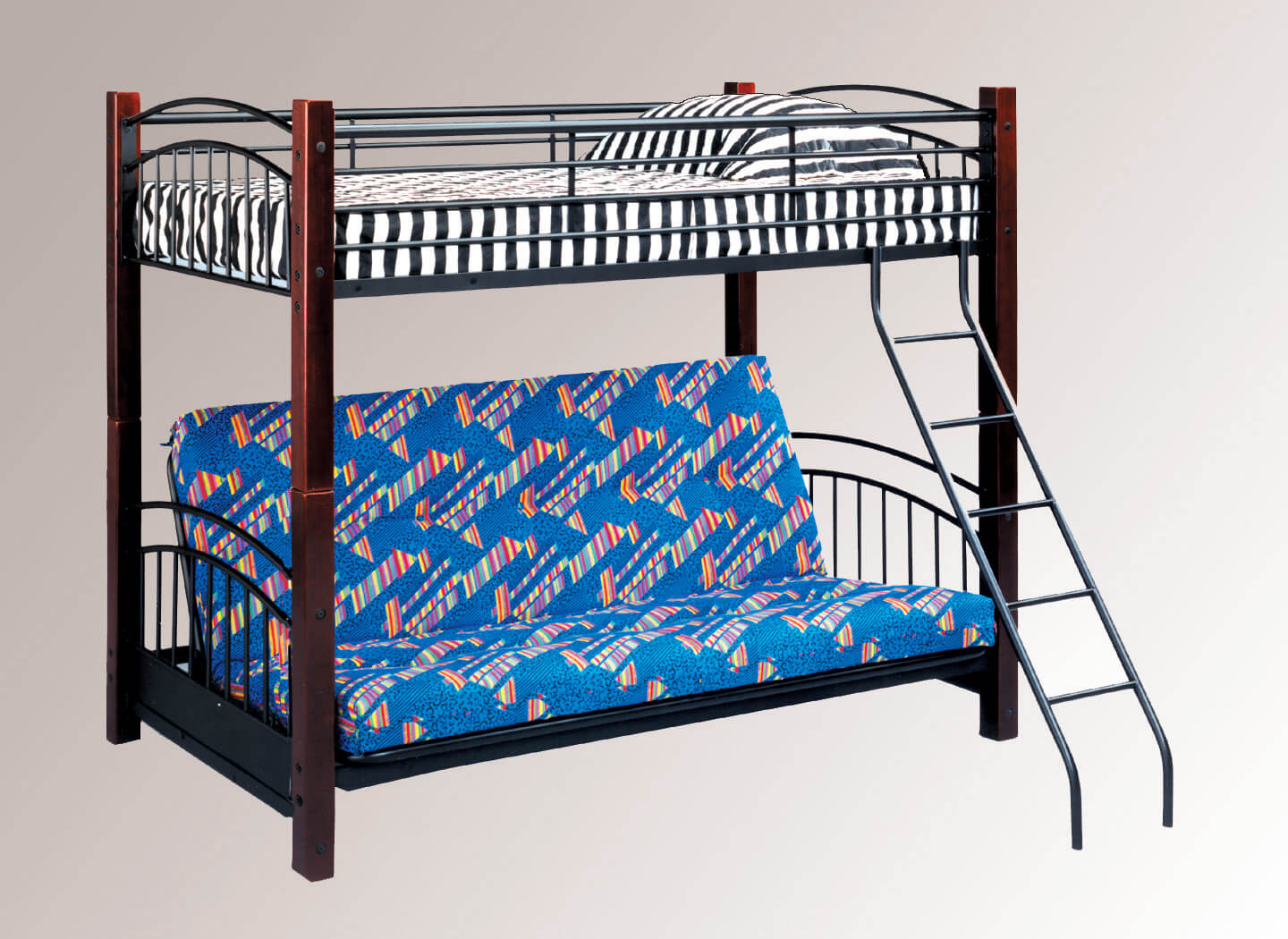 Black And Oak Futon Bunk Bed Kids Bunk Beds