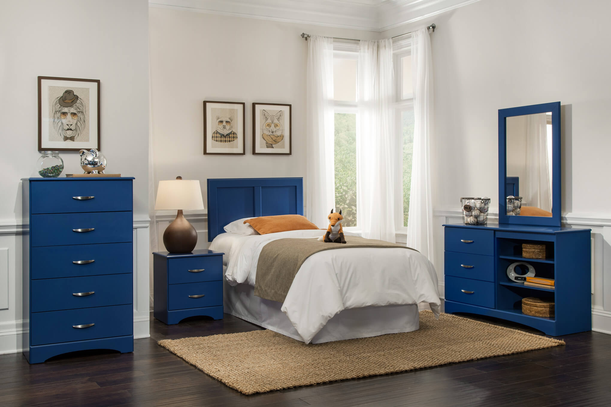 179 Kith Royal Blue Bedroom Set