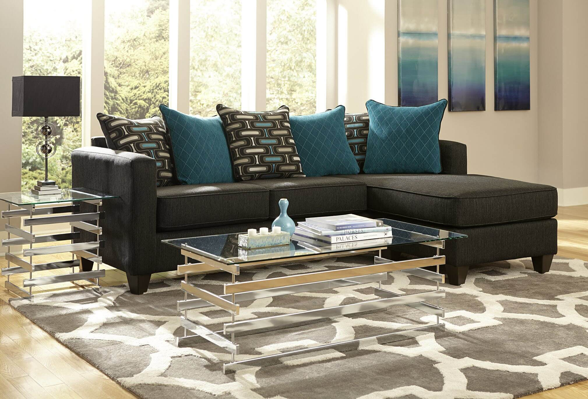 Discount Living Room Furniture Nj on Ashley Furniture Katisha Sectional