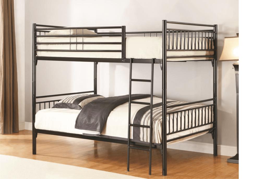 Black Full Over Full Metal Bunk Bed Kids Bunk Beds
