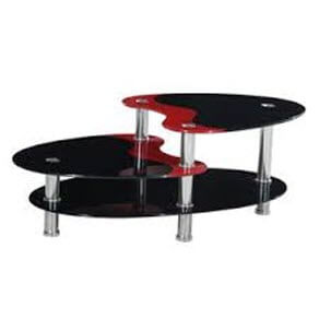 Home Source Black And Red Coffee Table