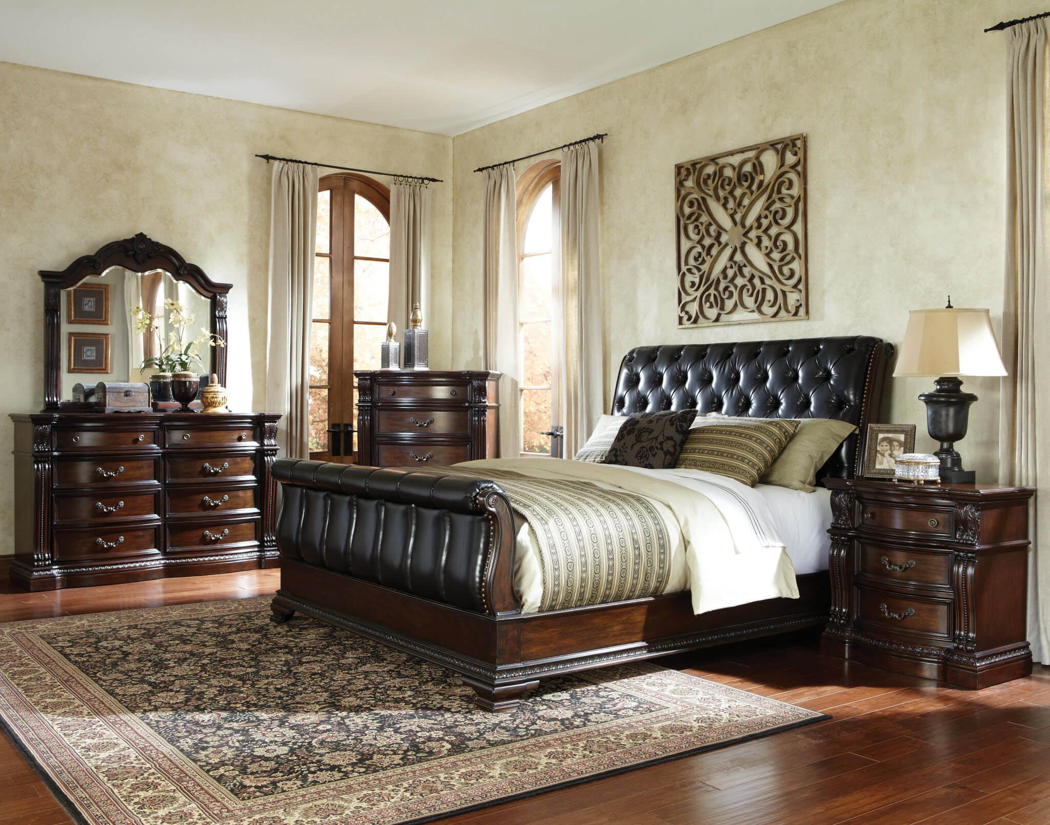 Churchill sleigh bedroom set bedroom furniture sets