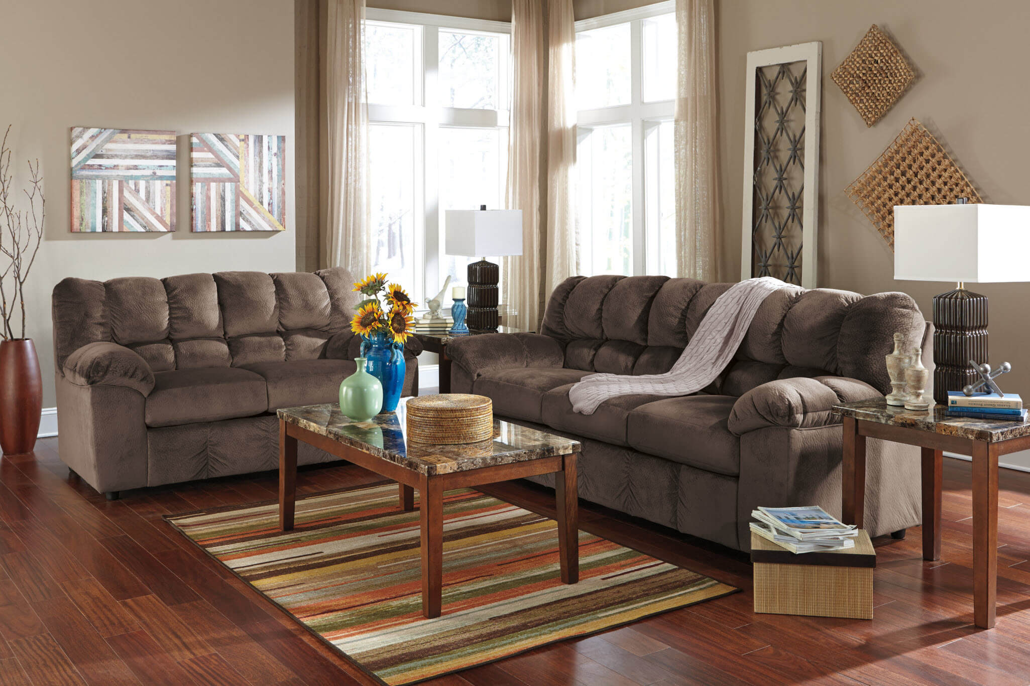 Julson Cafe Sofa And Loveseat Fabric Living Room Sets