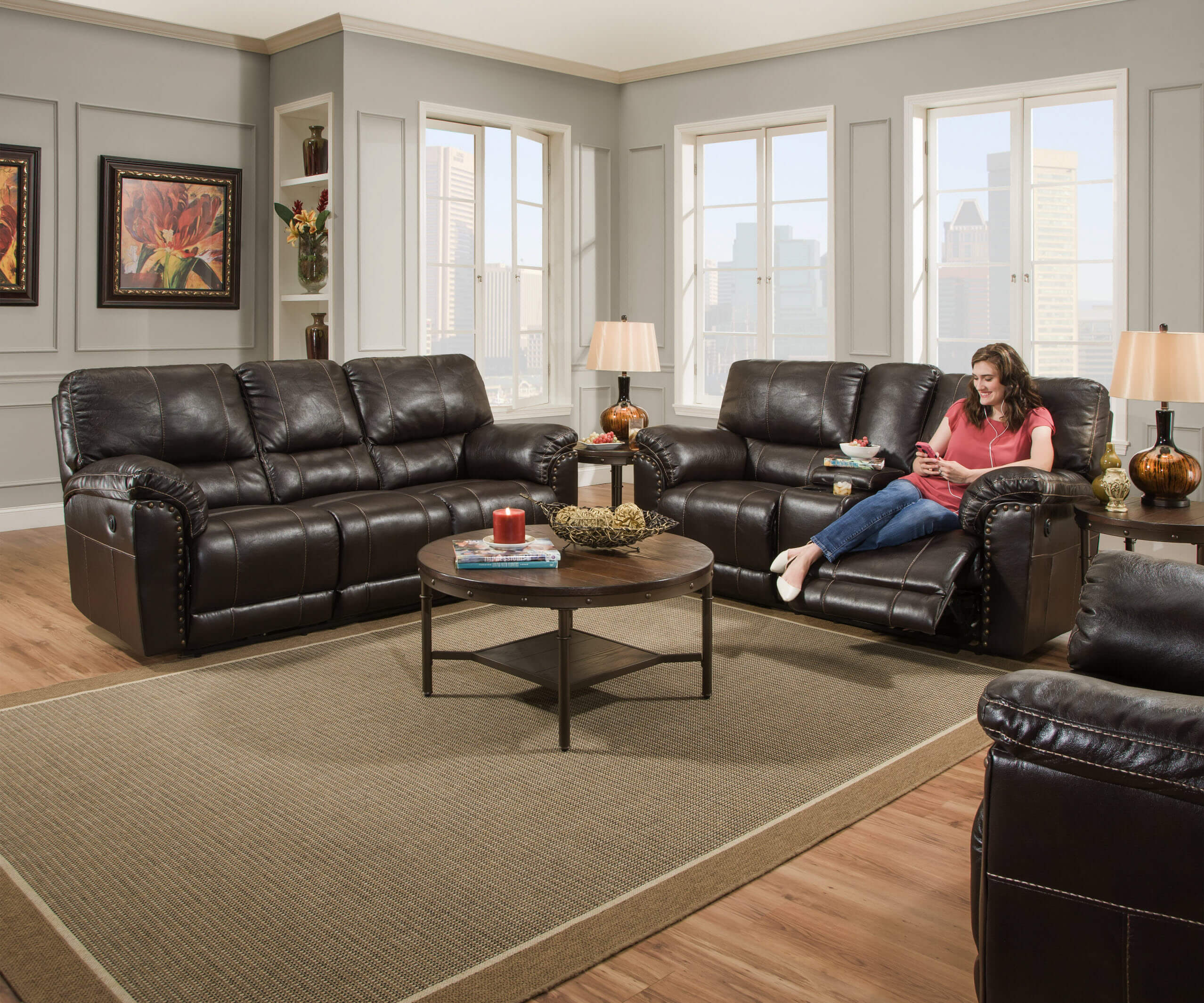 Super 50961 Abilene Chestnut Reclining Sofa And Loveseat By Simmons Discontinued Ibusinesslaw Wood Chair Design Ideas Ibusinesslaworg