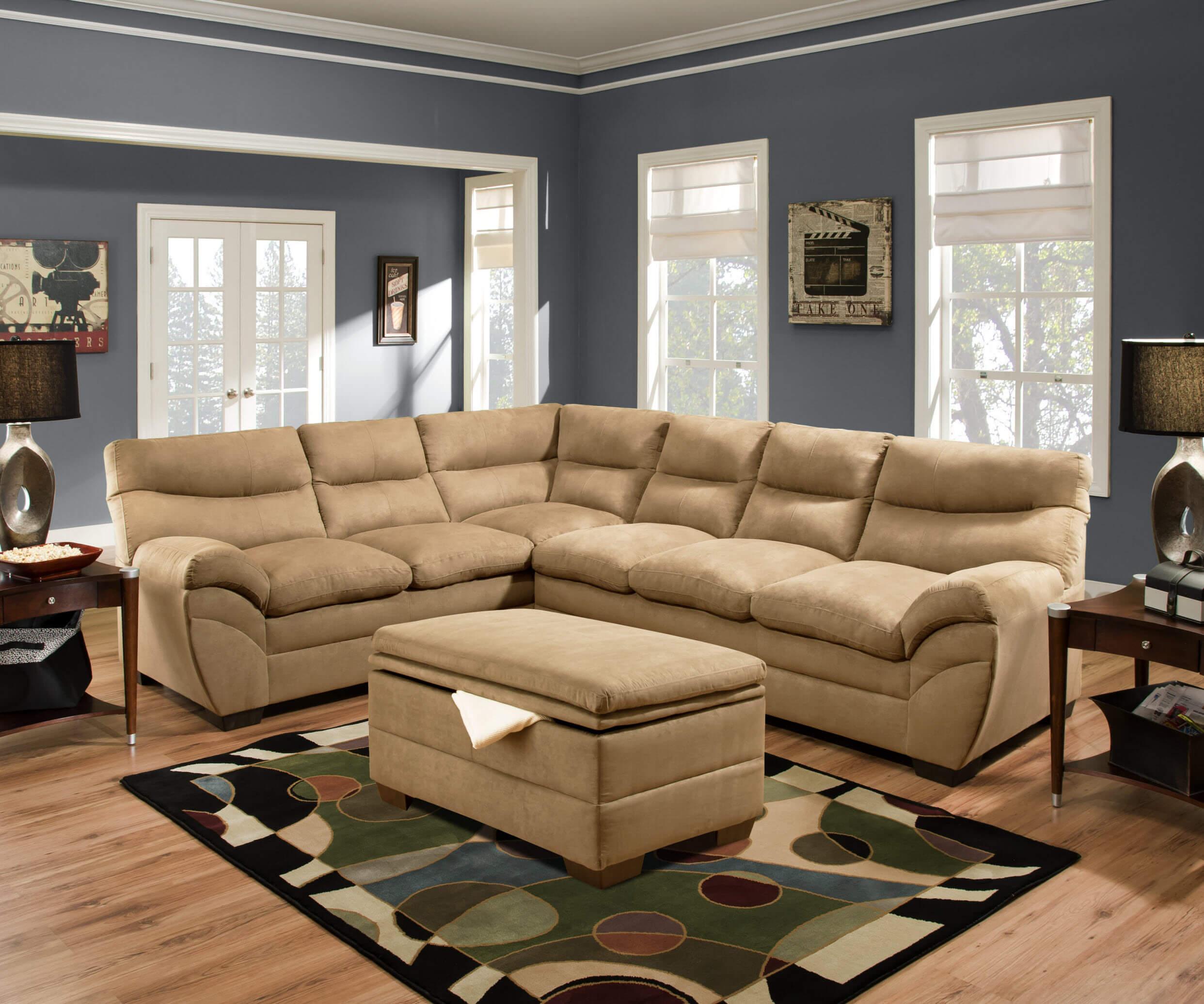 Simmon Luna Latte Sectional Sectional Sofa Sets