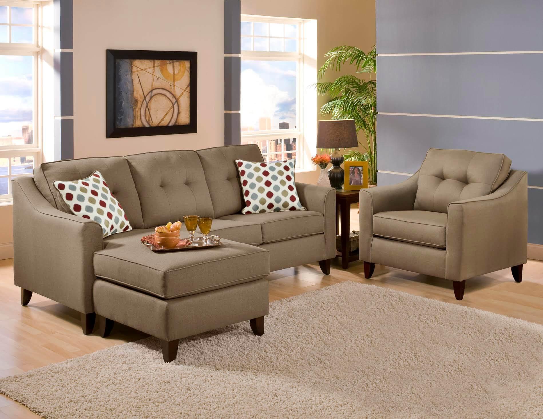 Stoked Truffle Sofa Chaise by Washington