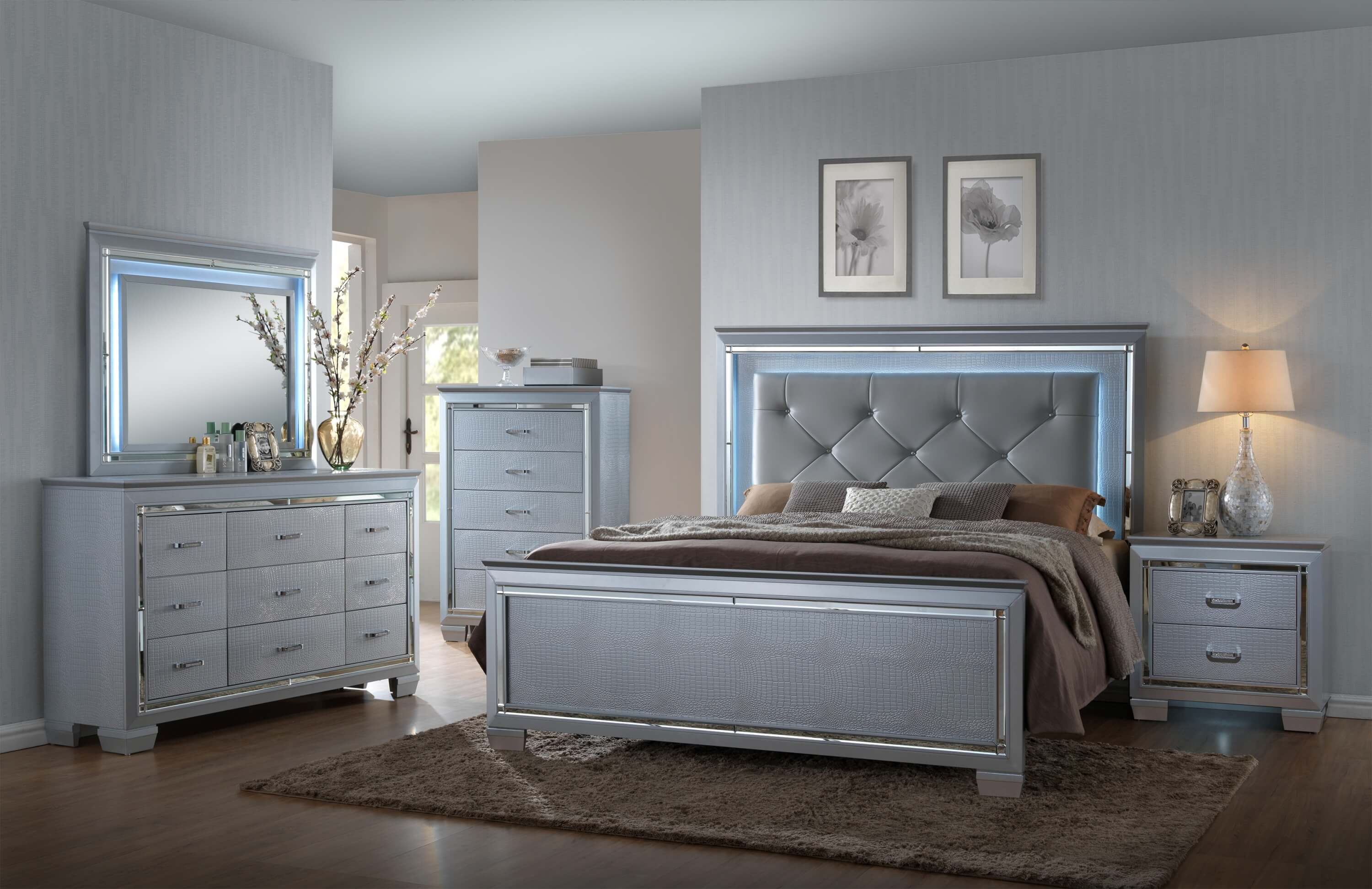Lillian Led Bedroom Set By Crown Mark