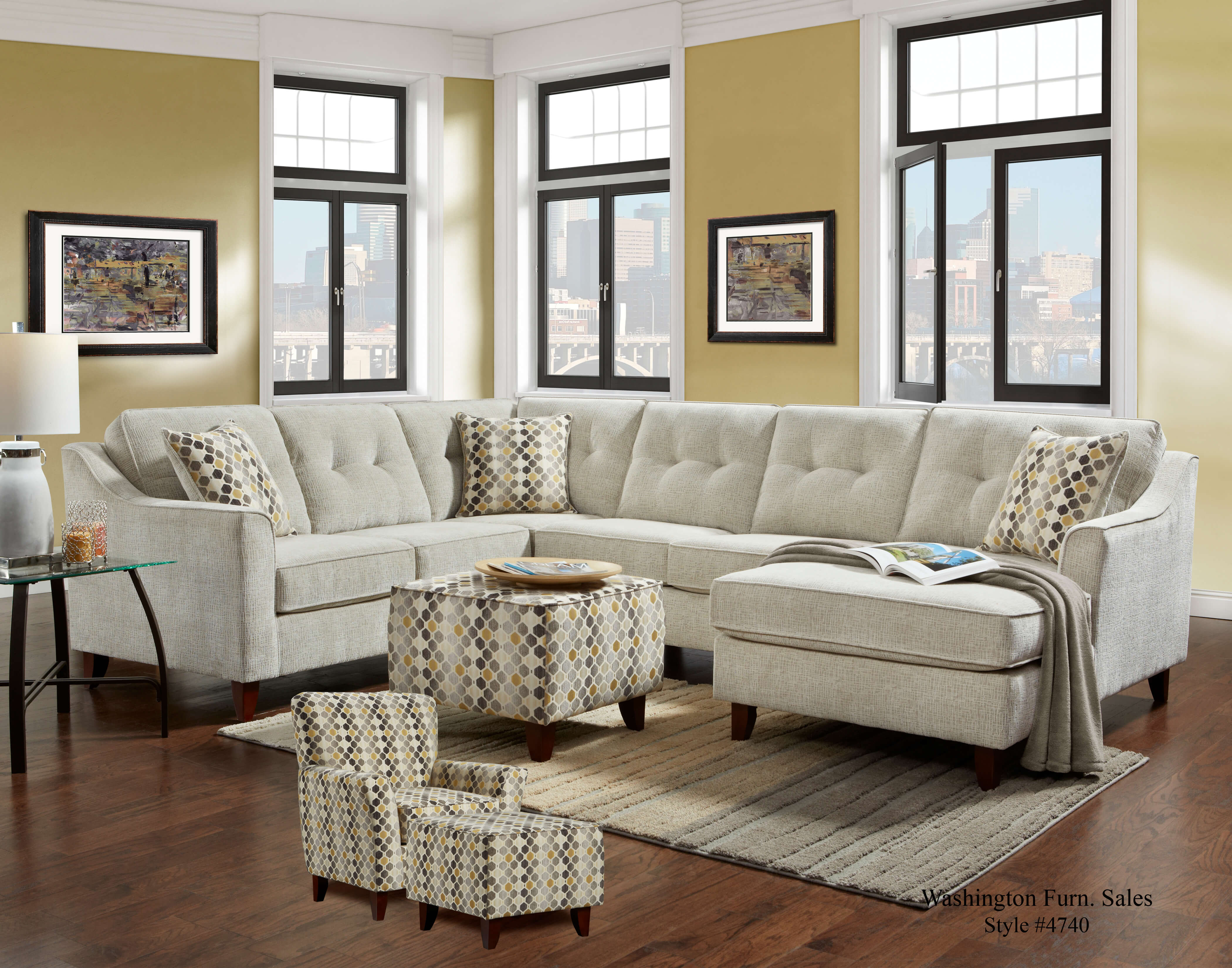 Sydney Cream Sectional Sectional Sofa Sets