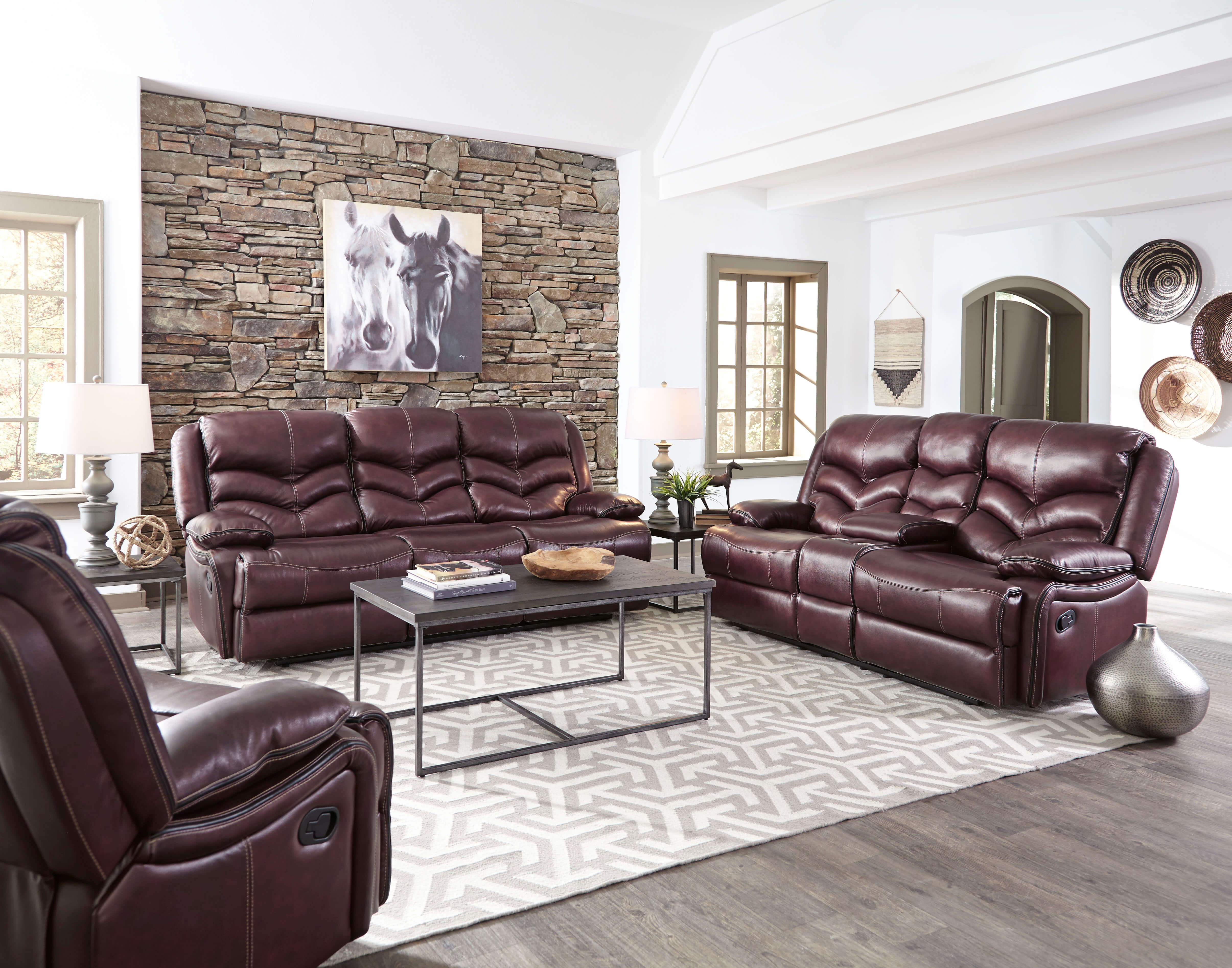 Strange Denali Leather Reclining Sofa And Loveseat By Standard Furniture Discontinued Bralicious Painted Fabric Chair Ideas Braliciousco