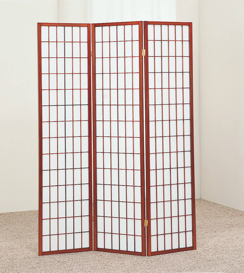 Crown Mark Cherry Room Divider Screens Room Dividers
