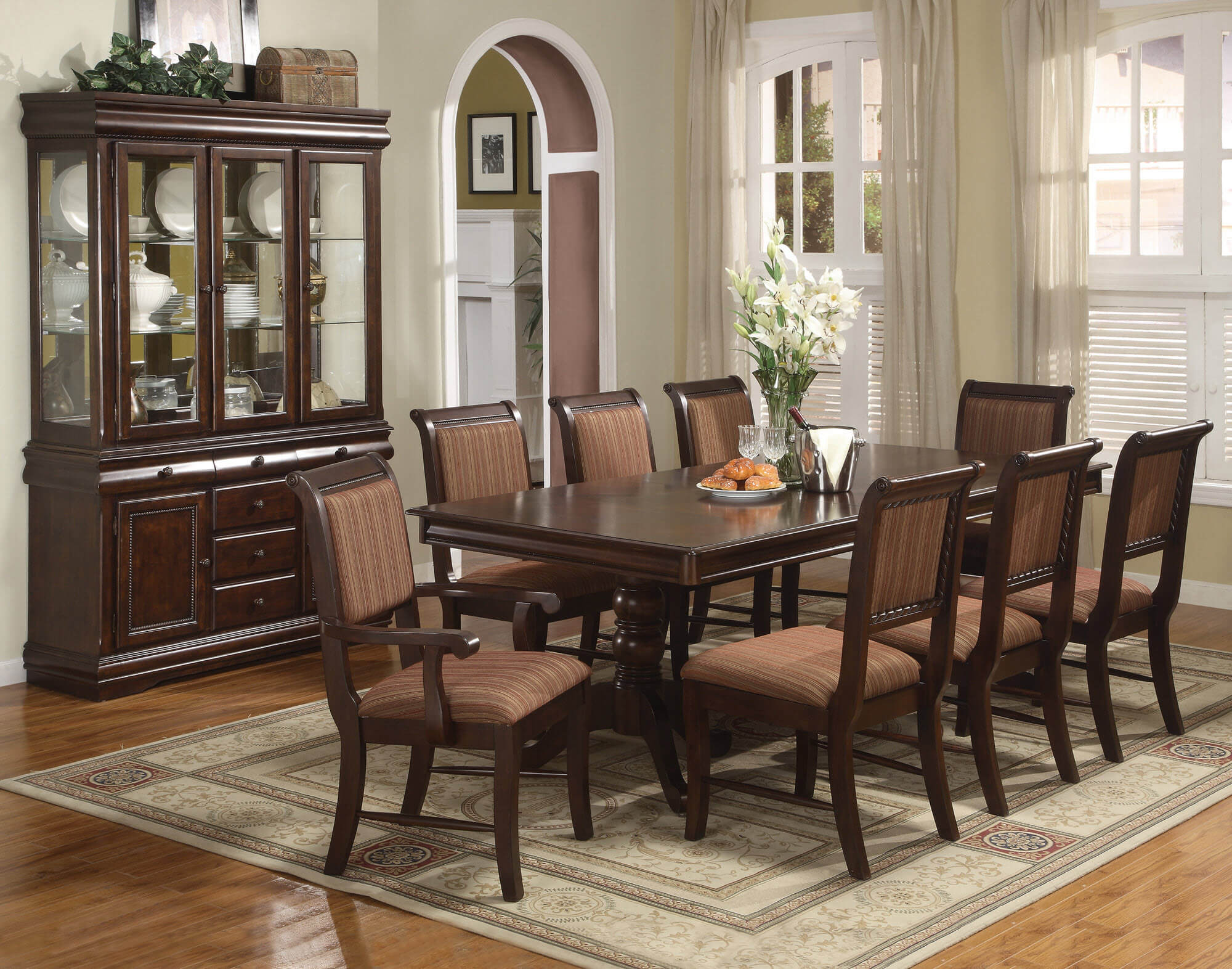 Great Crown Mark Merlot Dining Room Set