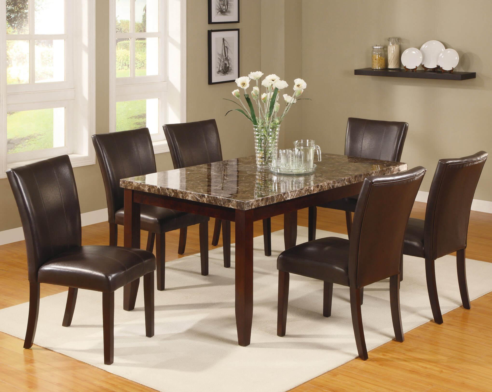 Superb 2221 Ferrara 5 Piece Esspresso Dining Set By Crown Mark Home Interior And Landscaping Transignezvosmurscom