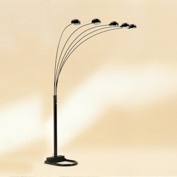 Crown Mark Black Arc Floor Lamp