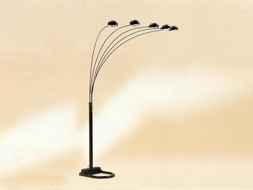 Crown Mark Black Arc Floor Lamp