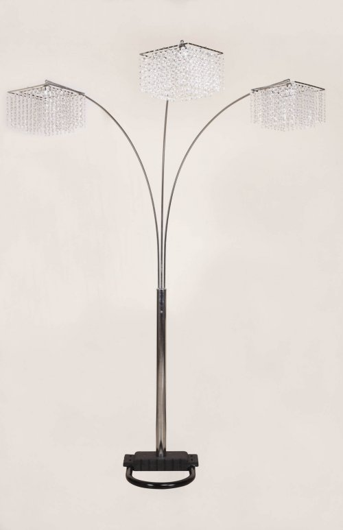 Crown Mark Chrome Floor Lamp