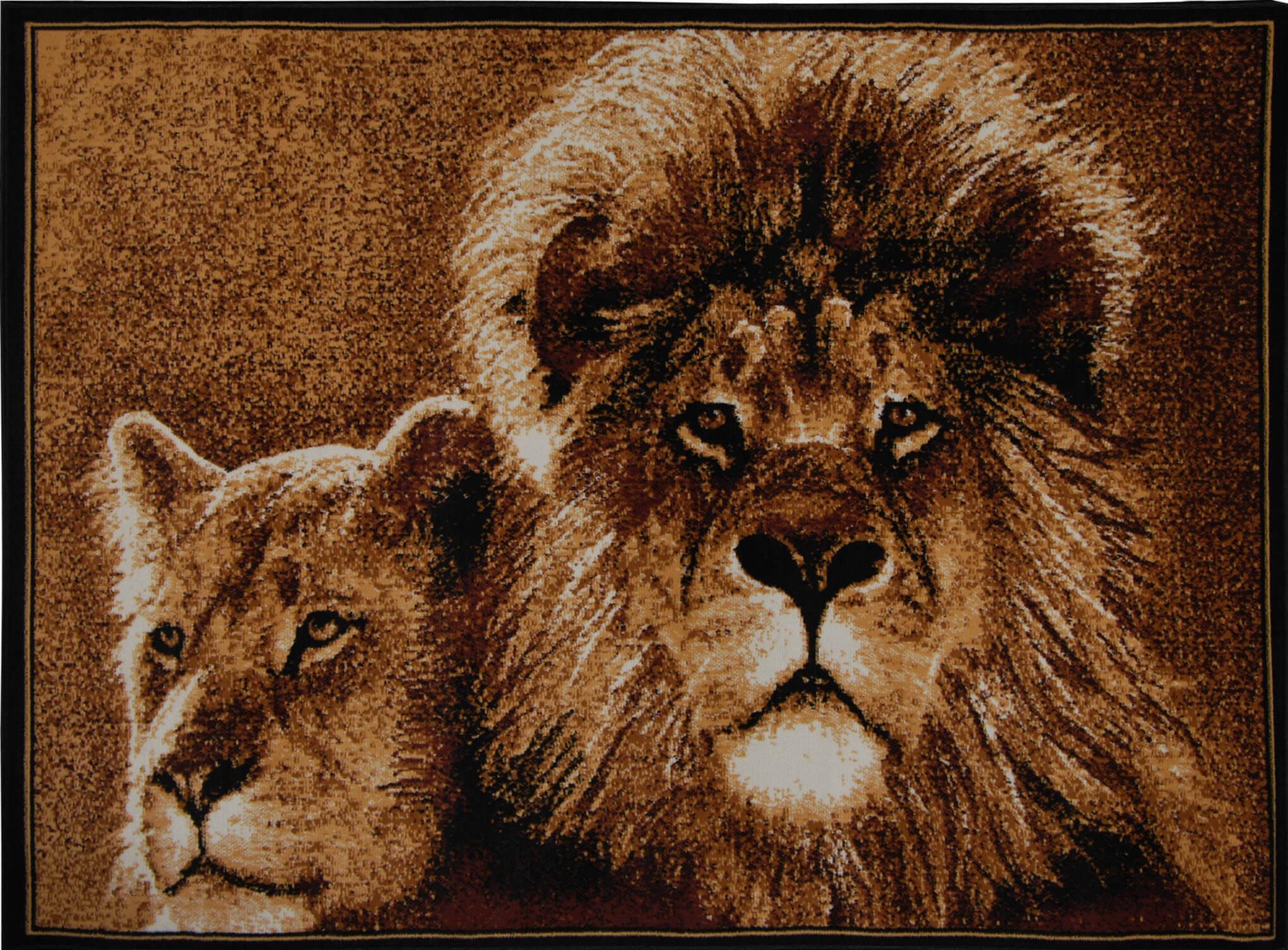 Lion Ebony Area Rug Rugs
