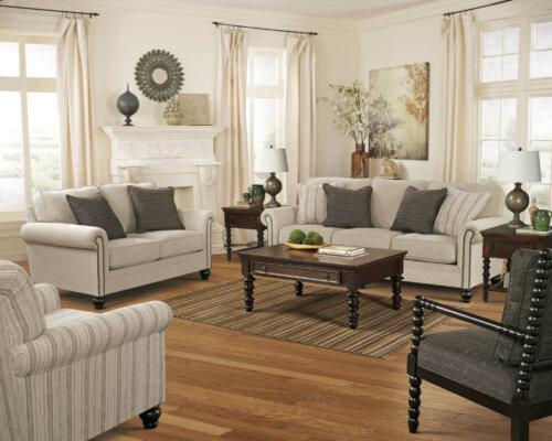 Milari Linen Sofa and Loveseat