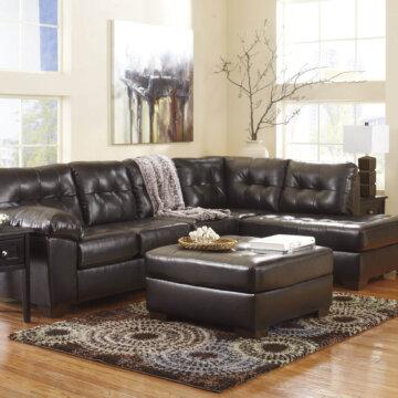 Simmon Luna Chocolate Sectional Sectional Sofa Sets