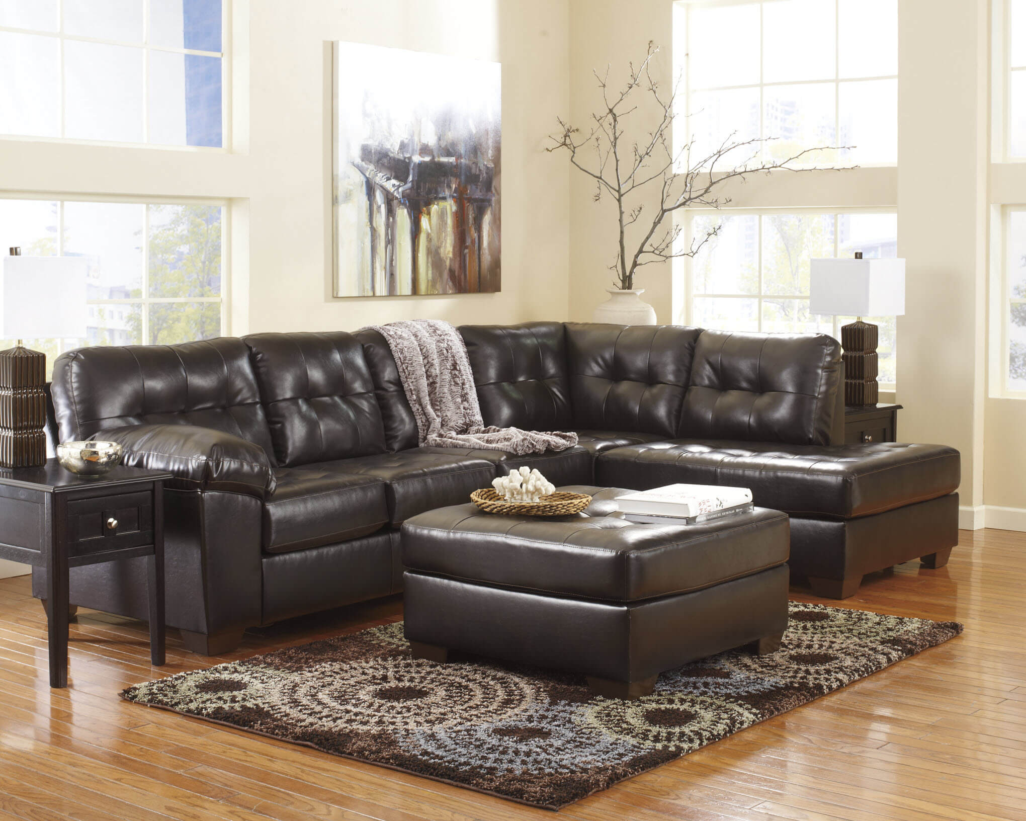 Alliston Chocolate 2 Piece Sectional
