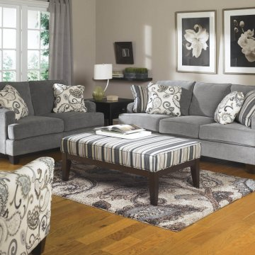Yvette Steel Sofa and Loveseat by Ashley