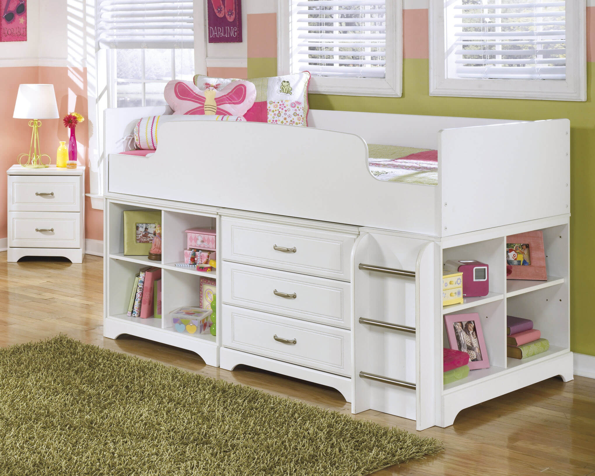 Ashley Lulu Twin Loft Bed Kids Bedroom Sets