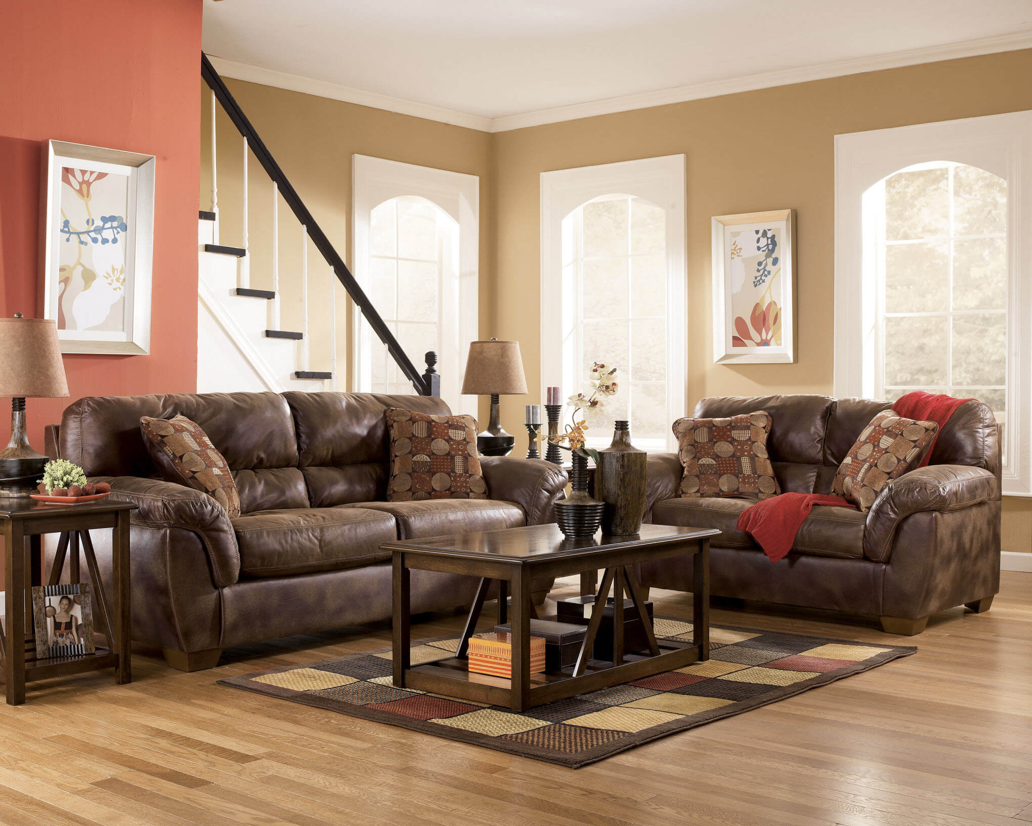 ashley furniture living room set frontier sofa and loveseat fabric living room sets 18062