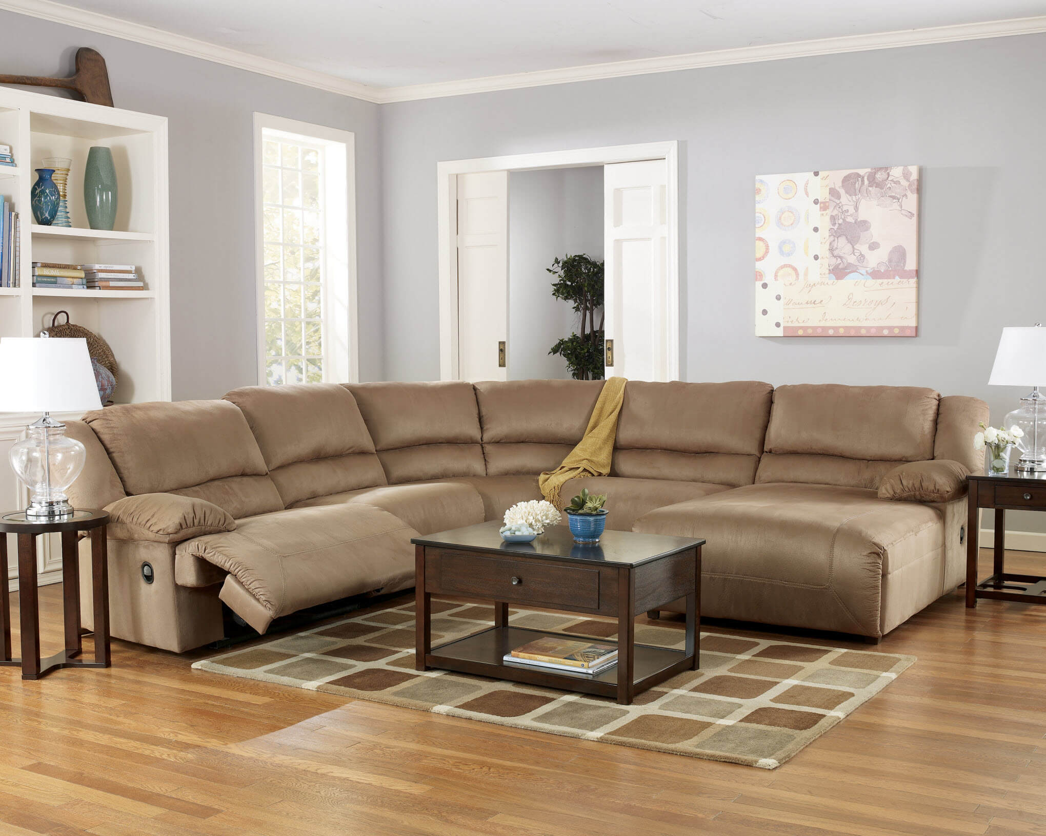 Ashley Hogan Mocha Sectional