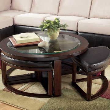 Ashley Round Cocktail Table with Stools