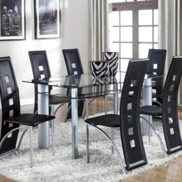 Black 5 Piece Metro Dining Set