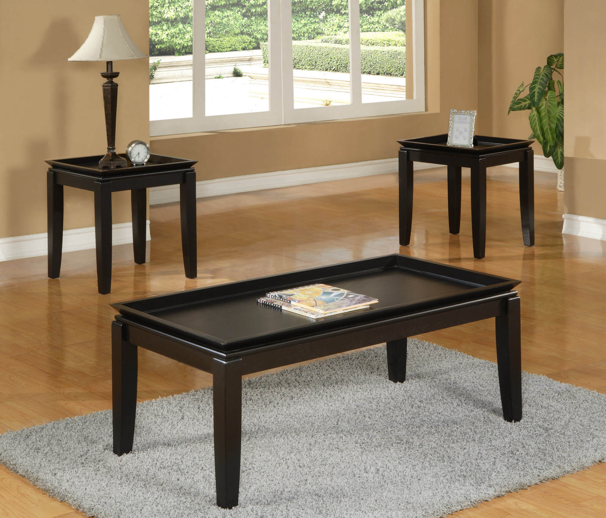 espresso tray coffee and end table set occasional tables. Black Bedroom Furniture Sets. Home Design Ideas