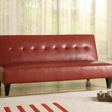 Crown Mark Red Adjustable Sofa