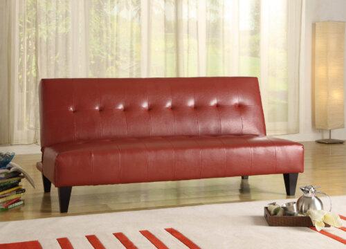 Crown Mark Red Adjustable Sofa