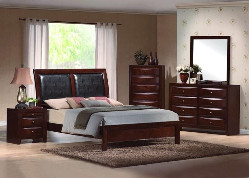 Emily Espresso Bedroom Set   Bedroom Furniture Sets