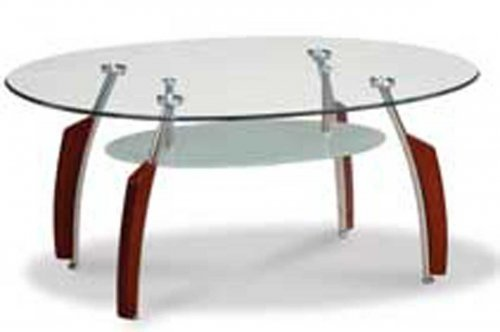 Global Mahogany Chrome Coffee Table