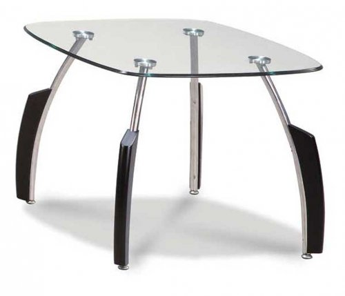 Global Black Chrome End Table
